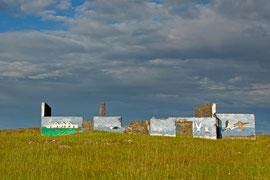 Kunst an Ruinen