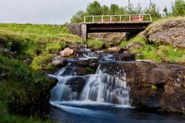 kleine Wasserfälle am Ferienhaus