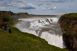 Gulfoss mit Regenbogen