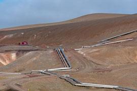 Fernwärmeleitung vom Kraftwerk im Kraflagebiet