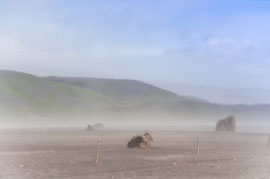 Ascheaufwirbelungen nach dem Ausbruck des Eyjafjallajökull