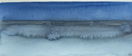 Nocturen-strand Normandie aq-1,  aquarel op papier / prijs op vraag
