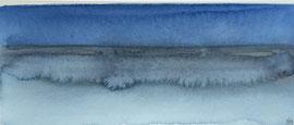 Nocturen-strand Normandie aq-1,  aquarel op papier / privécollectie in Nederland