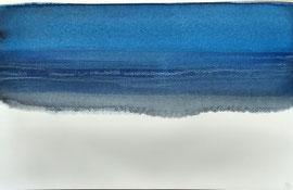 Nocturen-strand-Normandie-aq-2,  aquarel op papier / prijs op vraag