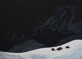 Schwarz zu blau - Öl auf Leinwand - 130 x 180 cm - 2012
