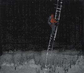 Vertikal - Öl auf Leinwand - 35 x 40 cm - 2013