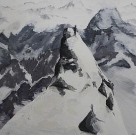 Gipfel - Öl auf Leinwand - 130 x 130 cm - 2009