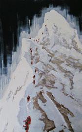 Grat - Öl auf Leinwand - 160 x 100 cm - 2009