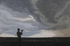 Jäger - Öl auf Leinwand - 60 x 90 cm - 2015