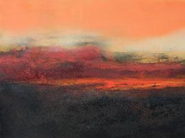 """Fabien Bruttin, """"Etna I"""", 2014, 80x50 cm (31.5x23.6 in), technique mixte sur MDF"""