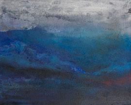 """Fabien Bruttin, """"Frozen Landscape"""", 2012, 40x50 cm (15.7x19.7 in), technique mixte sur MDF"""