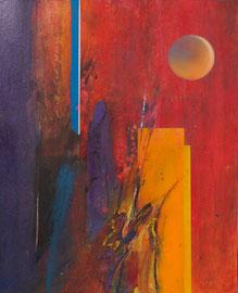 """Fabien Bruttin, """"Lune"""", 2012, 40x50 cm (15.7x19.7 in), technique mixte sur MDF"""