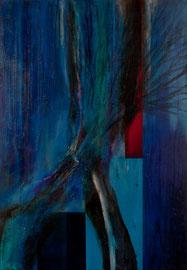 """Fabien Bruttin, """"La Volonté de Puissance I (souche)"""", 2012, 70x100 cm (27.5x39.4 in), technique mixte sur MDF"""