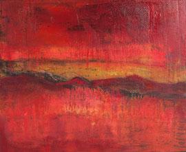 """Fabien Bruttin, """"Mountain 5"""", 2012, 40x50 cm (15.7x19.7 in), technique mixte sur MDF"""