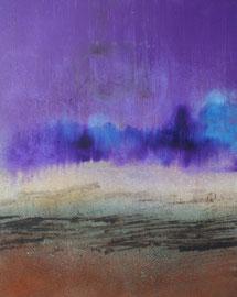 "Fabien Bruttin, ""Violetta"", 2014, 40x50 cm (15.7x19.7 in), technique mixte sur MDF"