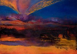"Fabien Bruttin, ""Volcano"", 2012, 80x100 cm (31.5x39.4 in), technique mixte sur MDF"