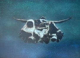 """Fabien Bruttin, """"Jump !"""", 2012, 70x100 cm (27.5x39.4 in), technique mixte sur MDF"""