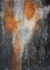 "Fabien Bruttin, ""Rusty"", 2010, 70x100 cm (27.5x39.4 in), technique mixte sur MDF"