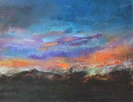 "Fabien Bruttin, ""Dawn"", 2014, 40x50 cm (15.7x19.7 in), technique mixte sur MDF"