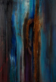 "Fabien Bruttin, ""Rupture"", 2012, 70x100 cm (27.5x39.4 in), technique mixte sur MDF"