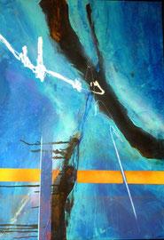 """Fabien Bruttin, """"CdL 06"""", 2010, 70x100 cm (27.5x39.4 in), technique mixte sur MDF"""