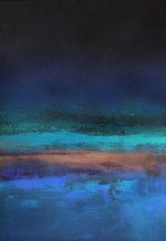 Fabien Bruttin, Untitled (vague), 2014, 70x100 cm (27.5x39.4 in), technique mixte sur MDF
