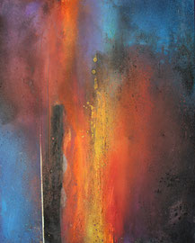 """Fabien Bruttin, """"Seven"""", 2014, 40x50 cm (15.7x19.7 in), technique mixte sur MDF"""