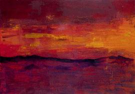 """Fabien Bruttin, """"Mountain 2"""", 2012, 70x100 cm (27.5x39.4 in), technique mixte sur MDF"""