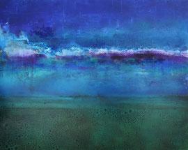 """Fabien Bruttin, """"Ocean Reflection"""", 2014, 70x100 cm (27.5x39.4 in), technique mixte sur MDF"""