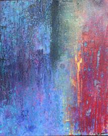 """Fabien Bruttin, """"Lueur"""", 2010, 40x50 cm (15.7x19.7 in), technique mixte sur MDF"""