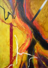 """Fabien Bruttin, """"CdL 03"""", 2010, 70x100 cm (27.5x39.4 in), technique mixte sur MDF"""