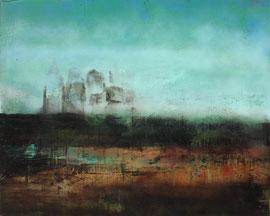 """Fabien Bruttin, """"Leng"""", 2014, 80x100 cm (31.5x39.4 in), technique mixte sur MDF"""