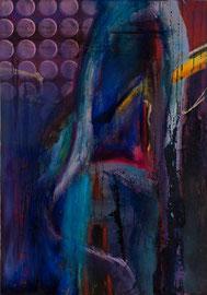 """Fabien Bruttin, """"Scorie"""", 2012, 70x100 cm (27.5x39.4 in), technique mixte sur MDF"""