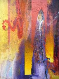 """Fabien Bruttin, """"Egyptian Revolution"""", 2011, 40x50 cm (15.7x19.7 in), technique mixte sur MDF"""