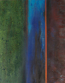 "Fabien Bruttin, ""Strates"", 2012, 40x50 cm (15.7x19.7 in), technique mixte sur MDF"