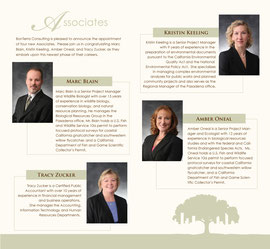 Folded Brochure Design with Portrait Photography for BonTerra Consulting - Inside Spread