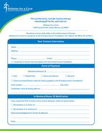 Pledge Form for Prostate Cancer Foundation