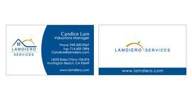 Business Card Design for Lamdiero Services