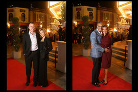 Couple portraits at special event