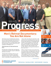 Monthly Newsletter - Front Cover - for Prostate Cancer Foundation