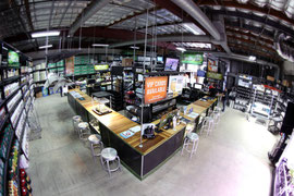 Interior of Venice location for Green Coast Hydroponics.