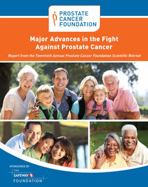 Annual Retreat Booklet Front Cover for Prostate Cancer Foundation
