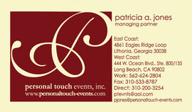 Logo and Business Card Designs for Personal Touch Events, Inc.