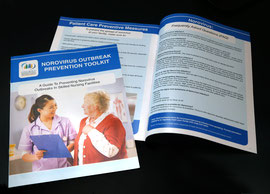 Norovirus Outbreak Prevention Brochure for the City of Long Beach Health Dept.