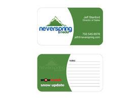 Business Card Design for Neverspring Media