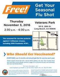 Flue Shot Flyer for the City of Long Beach