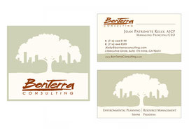 Logo and Business Card Designs for BonTerra Consulting