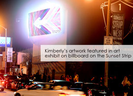 Kimberly's photos featured in art exhibit on LED billboard on the Sunset Strip