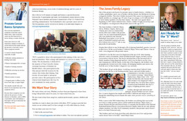 Monthly Newsletter - Inside Spread - for Prostate Cancer Foundation
