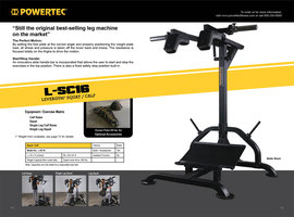 Product Catalog design for Powertec Fitness